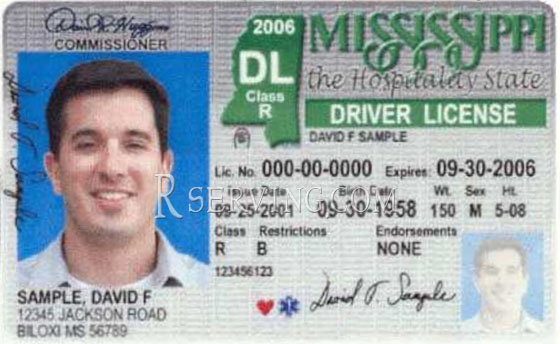 Image result for mississippi picture ID
