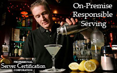 On-Premises Responsible Serving | Bartending License